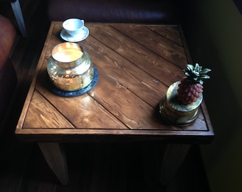 Reclaimed Wood Side Table | End Table | Side Table | Rustic Table | Wooden End Table