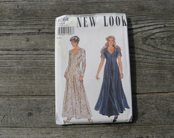 simplicity 6264 new look pattern vintage uncut size 6-16  2 dress variations  factory folded 1994