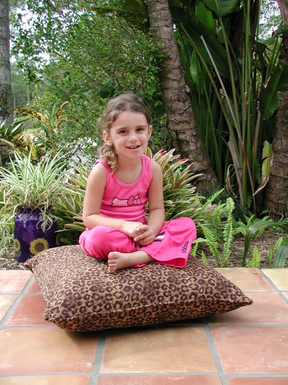 Large Floor Pillows in Animal Print Stuffed Firm Pillow