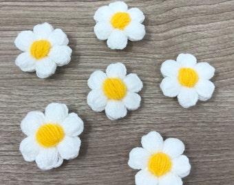 Flower Magnets-Set of 6, Kitchen Decor, Refrigerator Magnets, Office Decor, White Board Magnets, Teacher Gift, Wedding Board