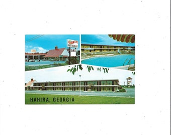 1970s Color Postcard of Days Inn Motel, Hahira, Georgia, Tasty World, UnPosted, Vintage Travel Souvenir Ephemera, Brooks Photographers