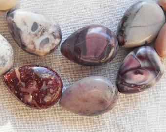 14 x 10.5 mm Porcelain Jasper teardrop, drop beads, 15+ inch strand ( 28 beads)  C05801