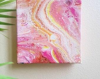 Starburst. Mini art fluid art fluid artist fluid acrylic flow painting abstract art fluid painting wall art