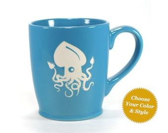 Squid Mug - Choose Your Nautical Cup Color