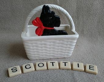 Scottie Dog Ceramic Vintage Scottie Dog Decor Scottish Terrier Ceramic Scottish Terrier Decor Made in Japan