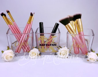 contemporary chic makeup brush holder makeup organize