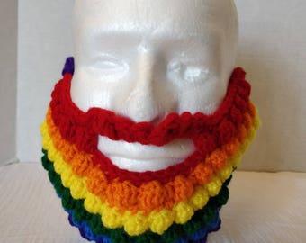 Rainbow Ski Mask Beard