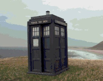 The Tardis Counted Cross Stitch Pattern (Digital Download)