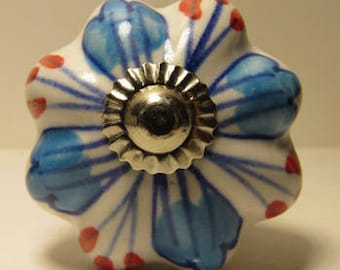 Red, Blue and White Wine Bottle Stopper