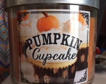 Pumpkin cupcake candle mom gift sister gift bath and body works candle fall candle