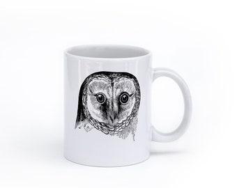 Owl Coffee Mug - Owl Decor - Coffee Mug - Bird Coffee Mug - Animal Mug - Mug with Owl - Nature Mug - Owl Gift - Owl Lovers -
