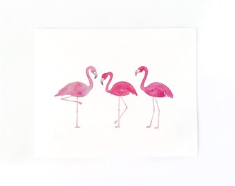Flamingo Art Print, Tropical Print, Palm Springs Print, Flamingo Print, Gifts for Her Under 30, Housewarming Gift, Wall Art, Summer Print
