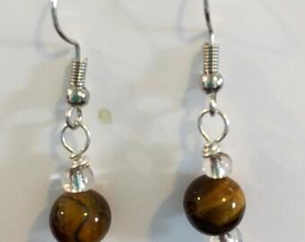 Brown Splash earrings