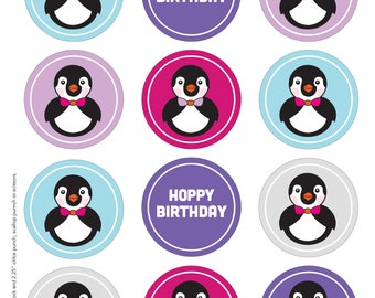 Penguin Cupcake Toppers and Wrappers