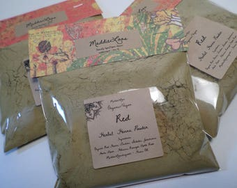 FREE SHIPPING/Vegan/Organic Red Henna Herbal Hair Colorant Powder-With Added Herbs-Complete Instructions Included-3oz.