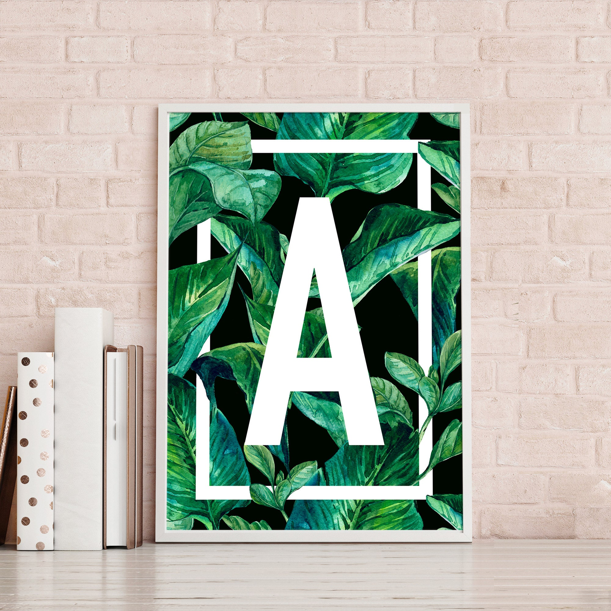 Personalised Tropical Leaf Poster Personalised Poster