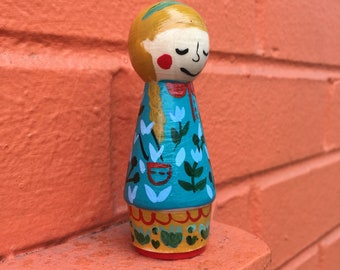 Custom Small Peg Doll Made to Order