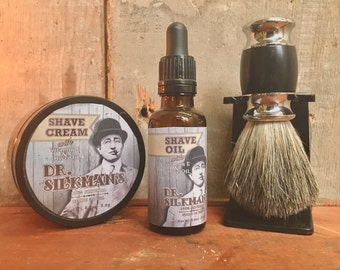 Shave Oil and Shave Cream Set- Handmade and All Natural