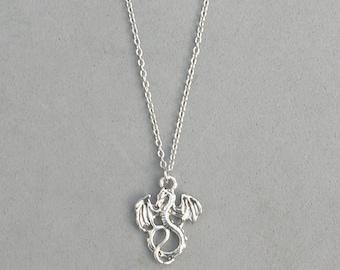 Antique Silver Dragon Necklace