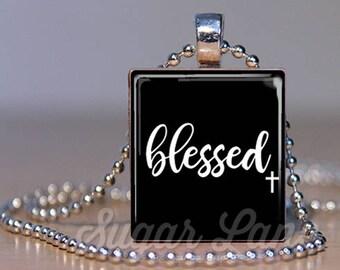 Blessed Necklace - Blessed Necklace - Blessed Pendant - Mother's Day Jewelry - Mother's Day Necklace - Blessed Jewelry