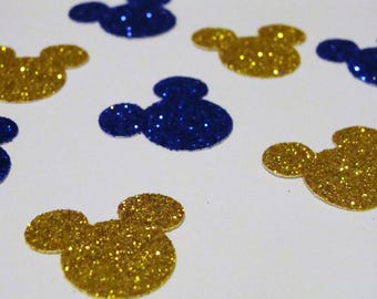 Mickey Mouse Confetti,Gold and Blue Mickey Mouse Confetti,Mickey Mouse Birthday Confetti,Mickey Baby Shower Decor, Gender Reveal Confetti