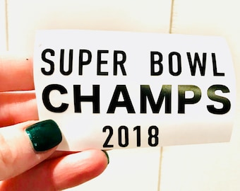 Eagles Super Bowl Champs Add on Decal
