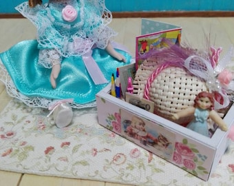 Scale toy box 1:12 for dollhouse
