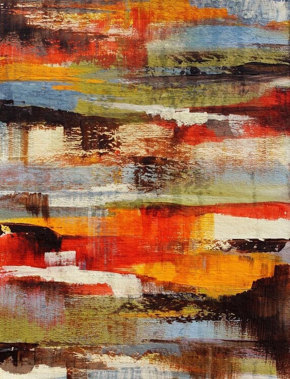 """5381-1 Tranquility. Abstract Paintings Art, Wall Decor, Extra Large Abstract Colorful Contemporary Canvas Art Print up to 72"""" by Irena Orlov"""