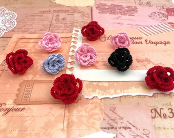 Tatting lace rose ring//Tatted rose ring //Gift for her
