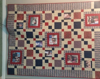 Custom Photo quilt - Made with photos from your precious memories