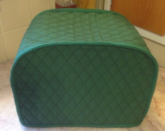 Hunter Green 2 Slice Toaster Cover Quilted Fabric Kitchen Small Appliance Covers Made To Order