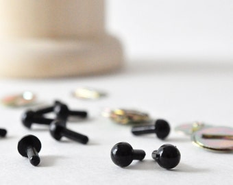 4.5 mm Safety Eyes, Black Craft Eyes, Black Animal Eyes, Amigurumi Eyes
