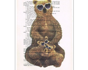 Boys Bear Decor, Bear Art Print: Summertime Bears