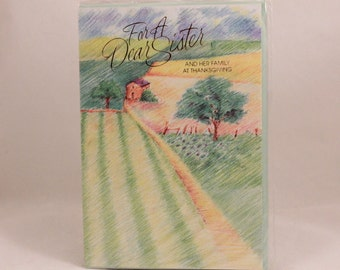 Lawson Falle Limited Greeting Card. One Card and Envelope. Sister Thanksgiving