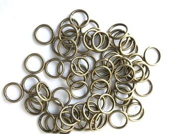 300 pcs Bronze Tone Loop Open Jump Rings Jewelry Split 10mm Making Ring 42b