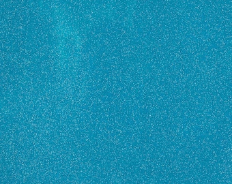 """Sparkle Glitter Vinyl Upholstery Fabric - Sold By The Yard - 54""""- Turquoise"""