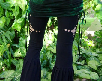 Size M/L Jumping Juniper Mini Skirt Hand Dyed Bamboo/Cotton Lycra