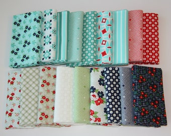 Day Sail By Bonnie & Camille for Moda Fabric Fat Quarter Bundle OOP HTF