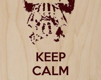 Keep Calm and Let The Games Begin - Plywood Wood Print Poster Wall Art WP - DF - 0463