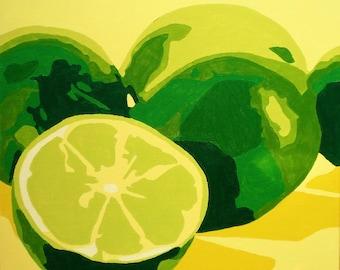 Variation of fruits Number 2 Limes