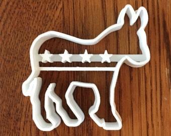 Democratic Donkey Symbol cookie and fondant cutter