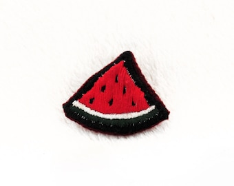 Watermelon Slice Hand Embroidered Pin ~ Watermelon Slice Hand Embroidered Patch ~ Watermelon Hand Embroidered Brooch ~ Watermelon Accessory