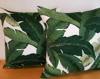 Tommy Bahama Swaying Palms Aloe, Indoor Outdoor Toss Cushion Cover