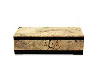 Jewelry box made of Jasper box 135*65*42 mm