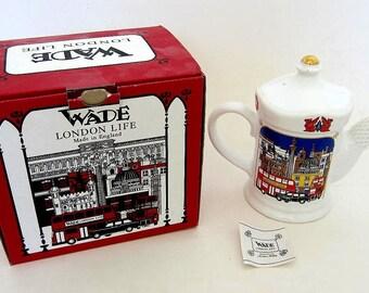 British/English Wade 'London Life' Teapot,Mint in Box