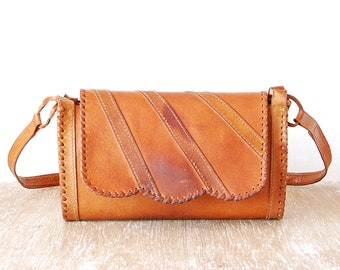 Leather Bag, Vintage Brown Leather Handbag, Handmade Woman Purse, Retro Genuine Leather Woman Shoulder Bag