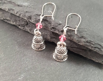Thimble earrings - sewing gift - sewing jewellery - quilting gift - sewing earrings - sewer gift - gift for a sewer - gift for quilter