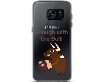 Funny Bull with Gloves Samsung Cell Phone Case