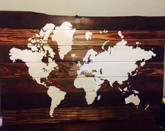 Chalkboard world map etsy huge rustic reclaimed wood world map 52 gumiabroncs Images