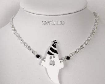Gothic Party Ghost Necklace